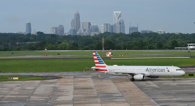Airbus A321 at Charlotte Airport