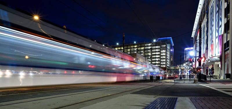 Lynx Light Rail in Uptown Charlotte, NC