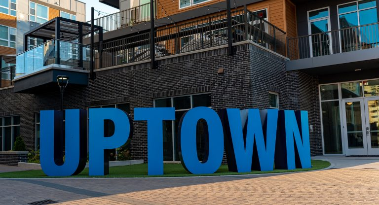 Uptown Charlotte Sign